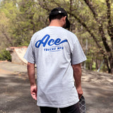 Ace Trucks Script T-Shirt - Athletic Grey
