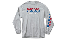 Ace Trucks Split Standard Logo Longsleeve - Heather Gray