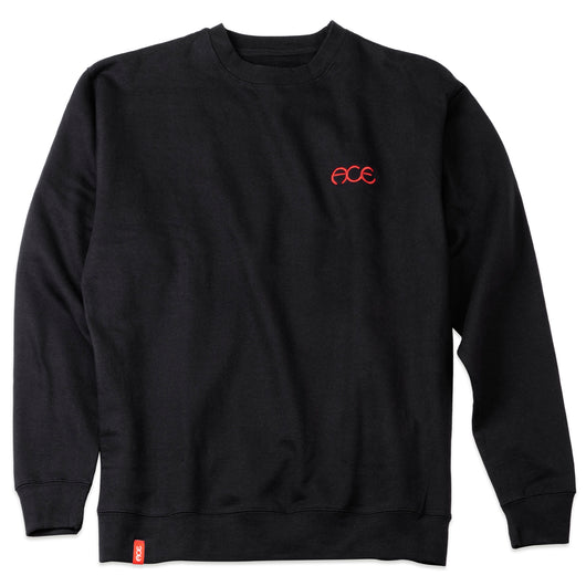 Ace Hutch Crewneck Sweatshirt- Black