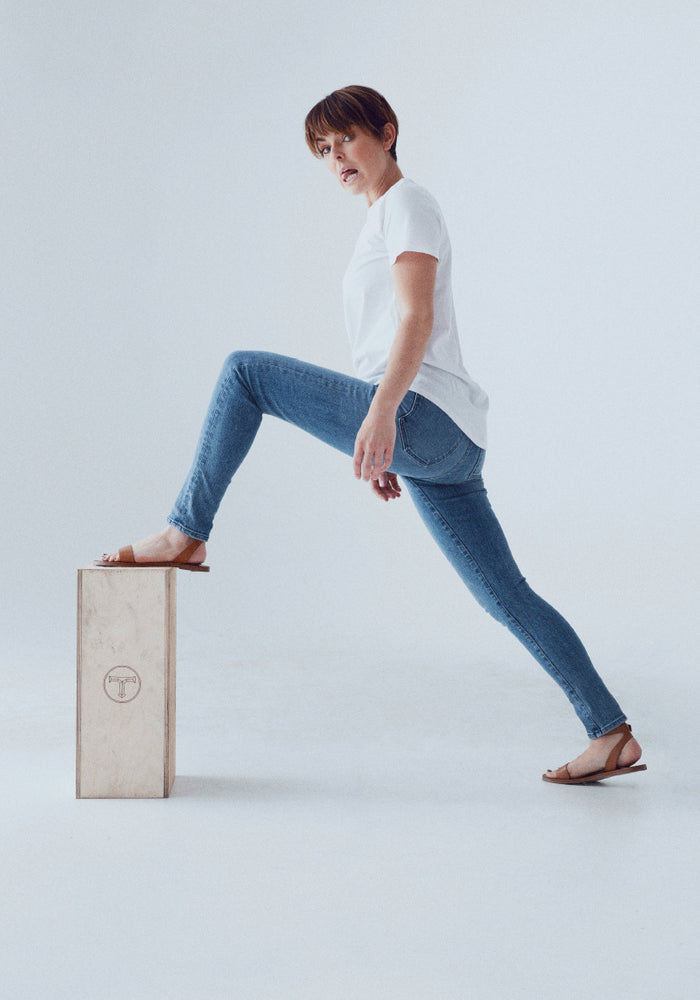 Plastic-Free Stretch Skinny Jean - Light Indigo