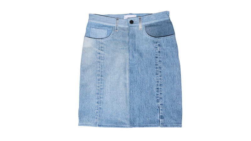 Indigo Vintage Denim Skirt