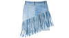 Vintage Denim Fringe Skirt