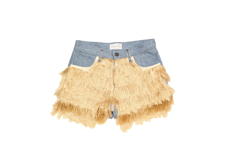 Gold Fringe Shorts
