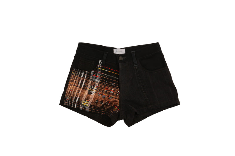 Black and Rose Gold Shorts