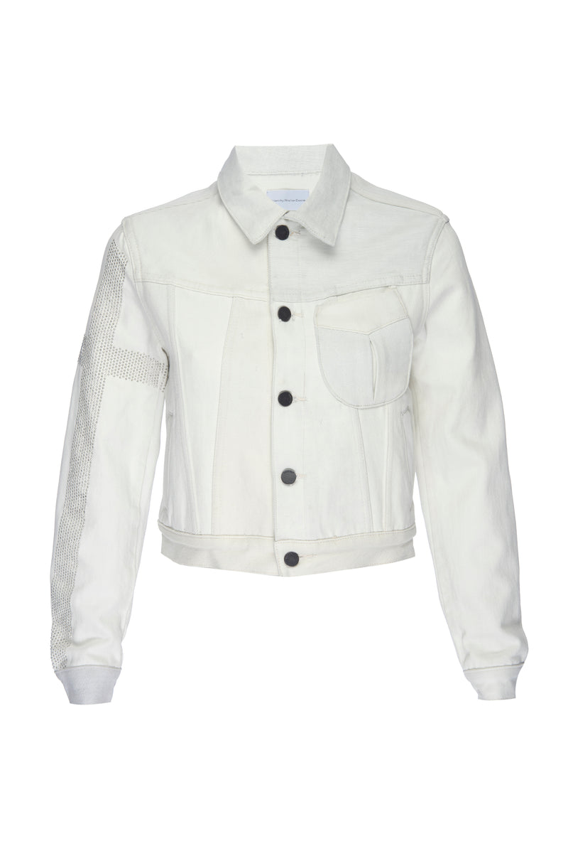 Off-White Denim Metal Motor Jacket