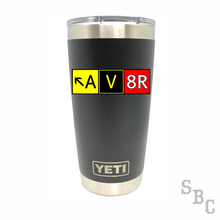 AV8R Pilot Aviator Yeti Rambler Tumbler - Small Batch Customs