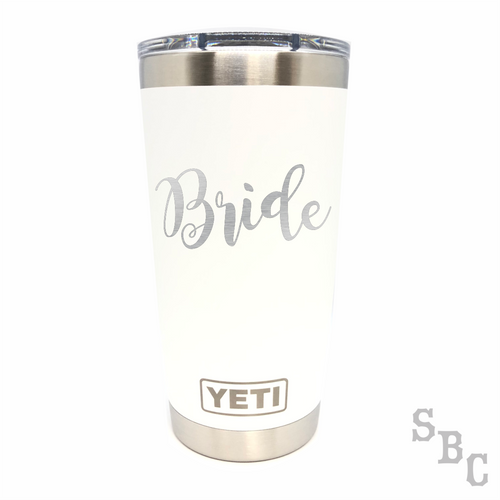 Bride Wedding Yeti Rambler Tumbler - Small Batch Customs