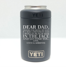 Dear Dad Father's Day Yeti Rambler Tumbler