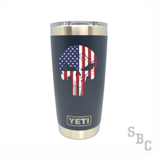 American Flag Punisher Yeti Rambler Tumbler - Small Batch Customs