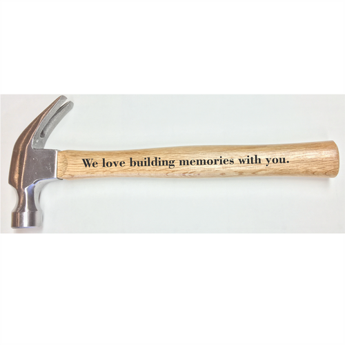 Personalized Hammer - We Love Building Memories With You - Small Batch Customs