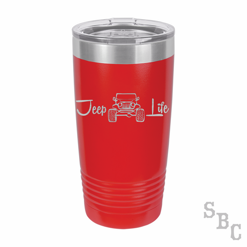 Jeep Life Laser Etched Tumbler