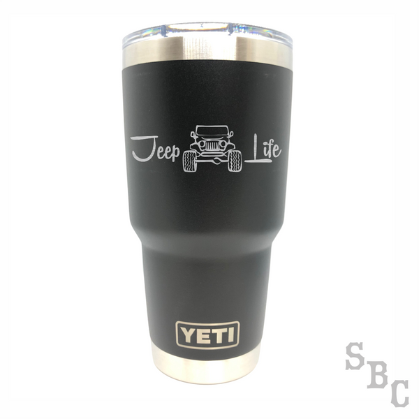 Jeep Life Yeti Rambler Tumbler - Small Batch Customs