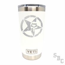 Jeep Punisher Star Yeti Rambler Tumbler Cup - Small Batch Customs