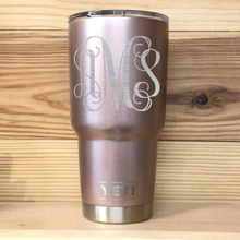 Rose Gold Monogram Yeti Rambler Tumbler Cup - Small Batch Customs