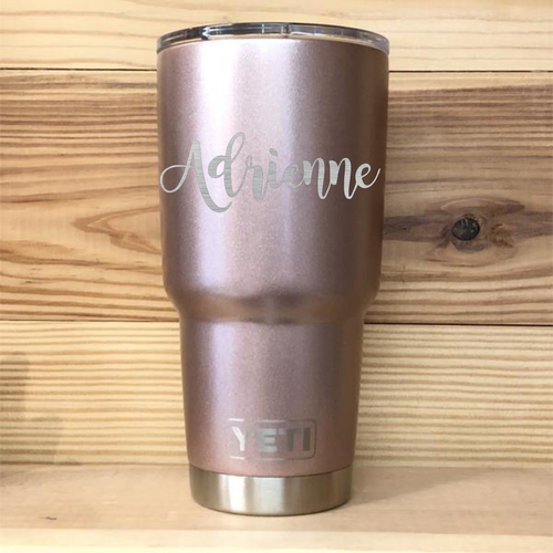 Rose Gold Personalized Name Yeti Rambler Tumbler Cup - Small Batch Customs