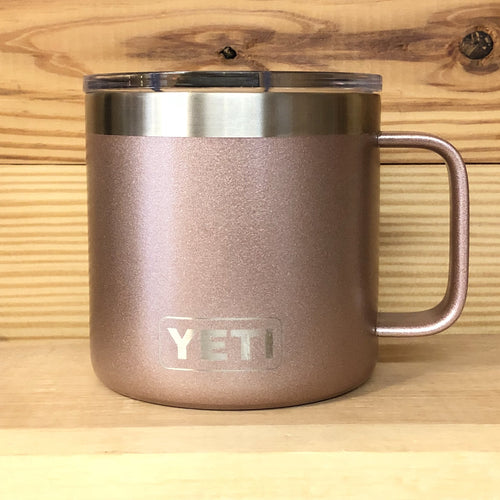 Rose Gold Yeti Camp Mug Coffee Cup - Small Batch Customs