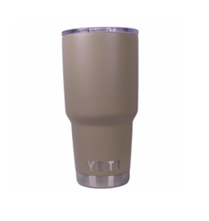Matte Desert Tan Yeti Rambler Tumbler Cup - Small Batch Customs