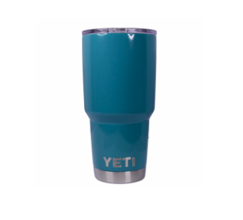 Turquoise Yeti Rambler Tumbler Cup - Small Batch Customs