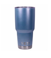 Turquoise Silver Texture Yeti Rambler Tumbler Cup - Small Batch Customs