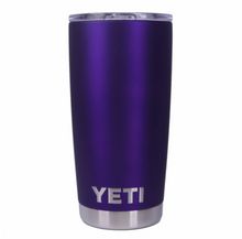 Matte Anodized Purple Yeti Rambler Tumbler Cup - Small Batch Customs