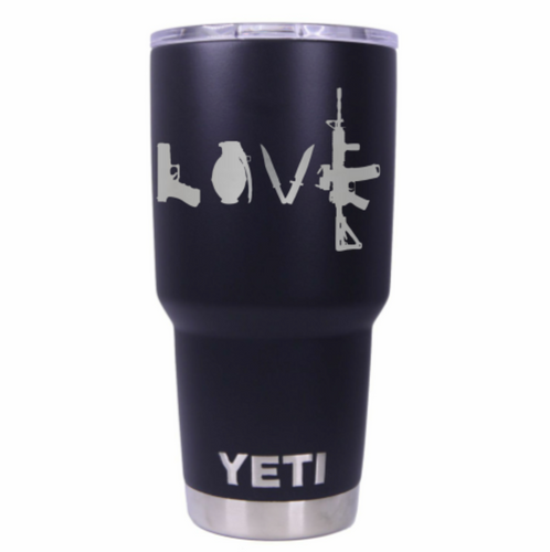 Love Guns Yeti Rambler Tumbler Cup - Small Batch Customs