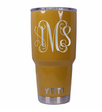 Monogram Yeti Rambler Tumbler - Small Batch Customs