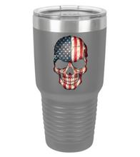 American Flag Skull Tumbler - Small Batch Customs