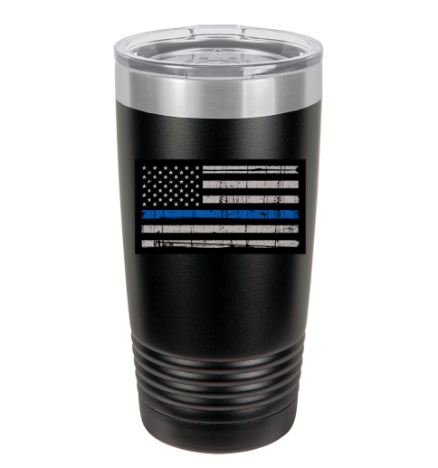 Thin Blue Line Polar Camel Tumbler - Small Batch Customs