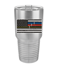 Thin Blue Green Red Line Polar Camel Tumbler - Small Batch Customs