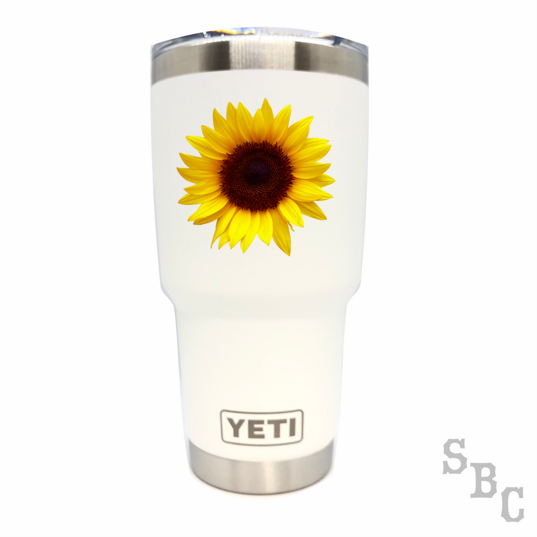 Sunflower Yeti Rambler Tumbler - Small Batch Customs