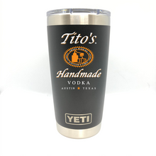 Titos Handmade Vodka Yeti Rambler - Full Color Logo - Small Batch Customs