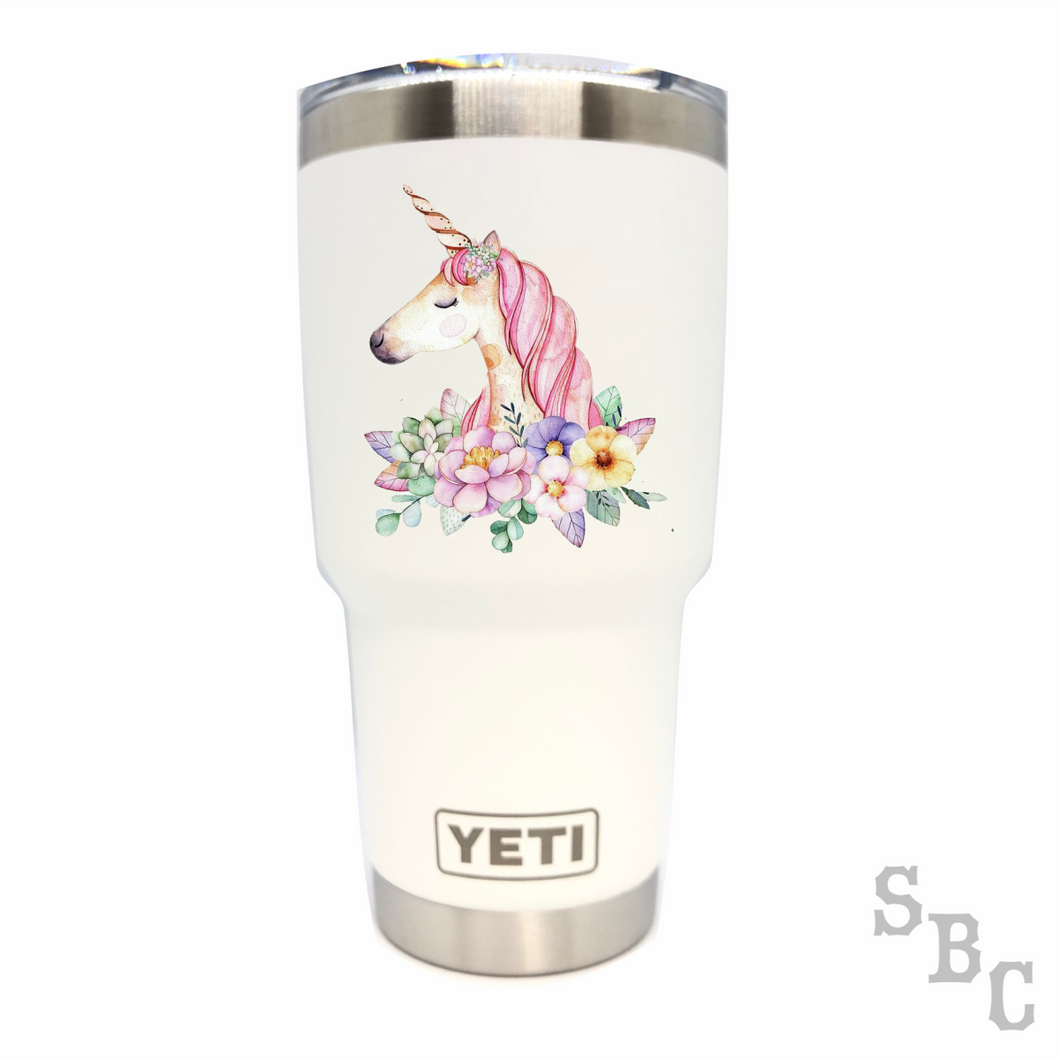 Unicorn Yeti Rambler Tumbler Cup - Small Batch Customs