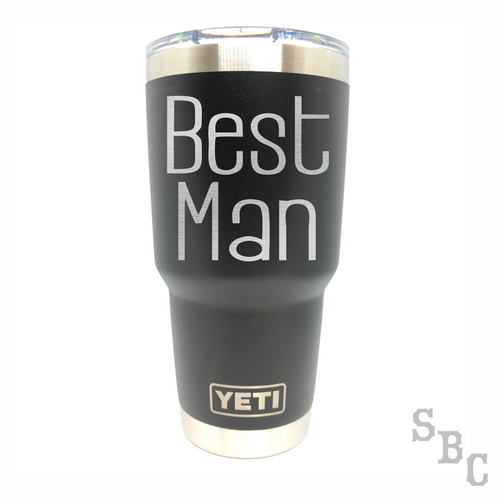 Best Man Wedding Yeti Rambler Tumbler - Small Batch Customs