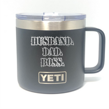 Husband Dad Boss Yeti Rambler Tumbler