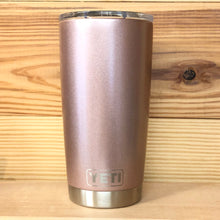 Rose Gold Metallic Yeti Rambler Tumbler Cup - Small Batch Customs
