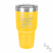 Sunrise Sunburn Sunset Repeat Laser Etched Tumbler