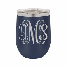 Monogram Stainless Steel Insulated 12 oz Wine Cup