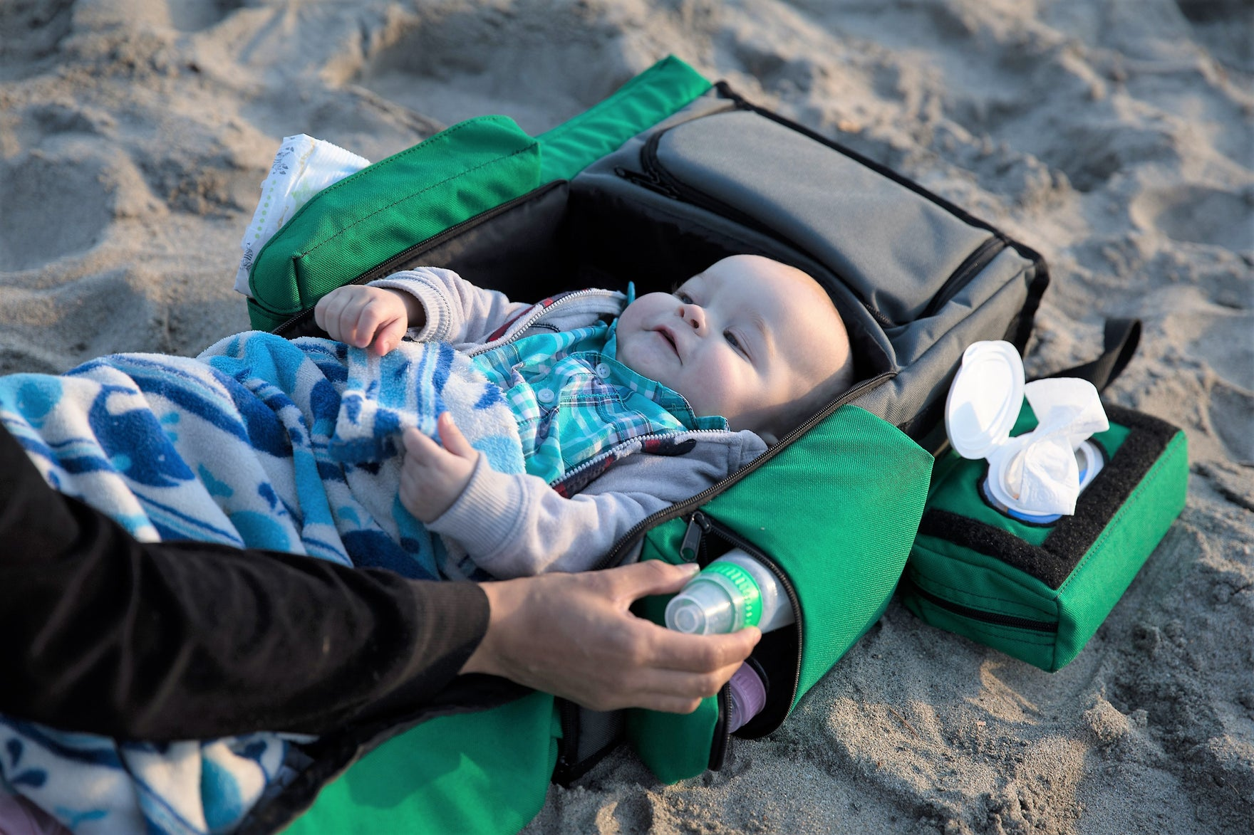 Up Up and Away! The World's Finest Portable Diaper-Changing Station with Bassinet & Coolers is Ready For Launch!