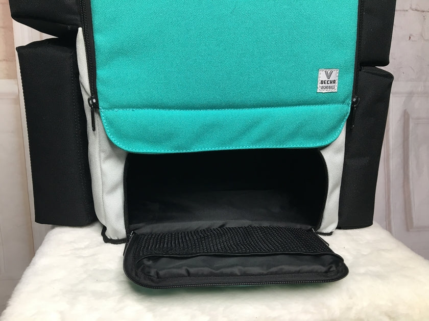 Awesome new diaper bag by Vecho Bags with an insulated food and bottle keeper and diaper changing station