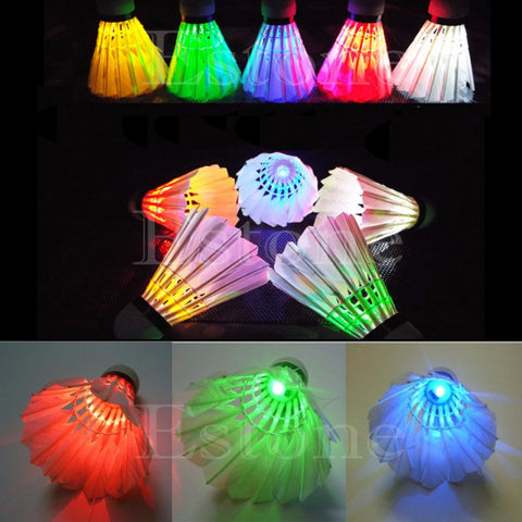 Lighting Badminton Birdies Dark Night Colorful LED Shuttlecock