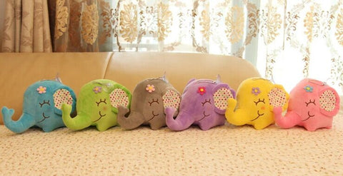 Super Kawaii Big Floral Elephant Plush Stuffed Toy