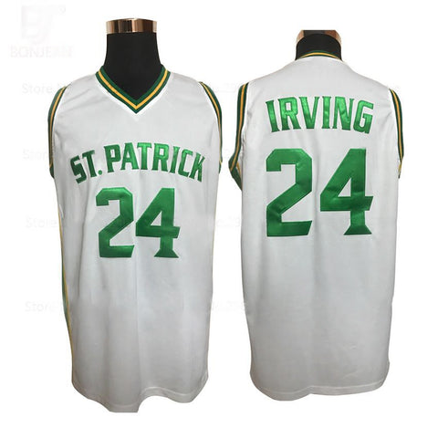 Patrick High School White Basketball Jersey