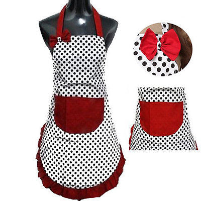 Cute Bib Dress Vintage Kitchen Women Apron