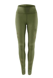 Army Green Sporting Leggings For Women's