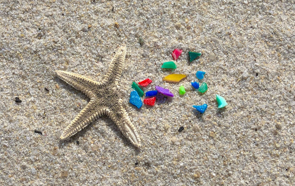 microplastics in the beach