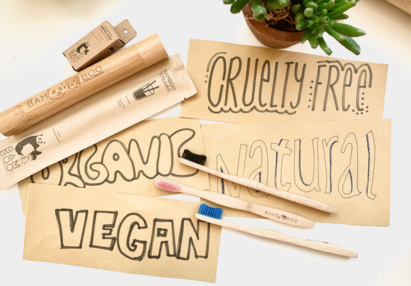 natural vegan cruelty free organic bamboo toothbrush