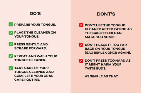 Do's and dont's eco-friendly tongue cleaner