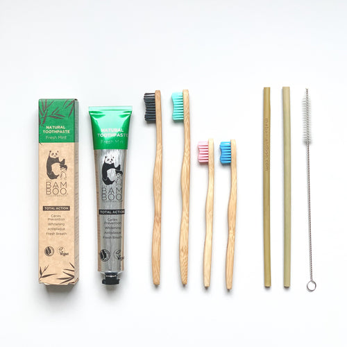 XMAS GIFTPACK🎄 #4 Eco Family - Bamboo Toothbrush Bam&Boo - Eco friendly, vegan and sustainable