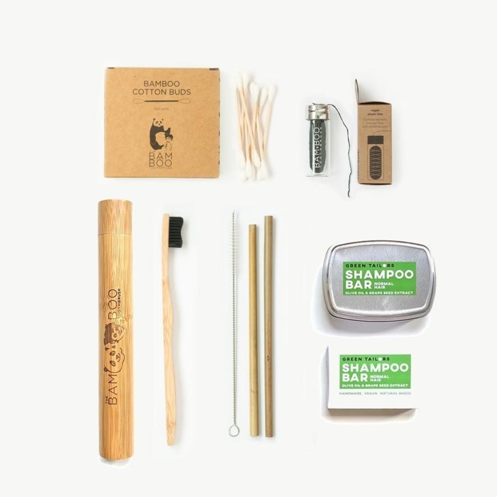 GIFTPACK # Travel Pack - Bamboo Toothbrush Bam&Boo - Eco friendly, vegan and sustainable