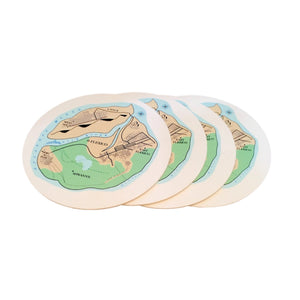 4 Flexico Map Coasters